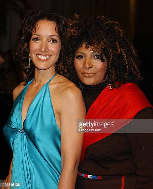 Jennifer Beals and Pam Grier during Showtime Presents The Premiere Screening Of The L Word at Bing Theatre in Los Angeles California United States