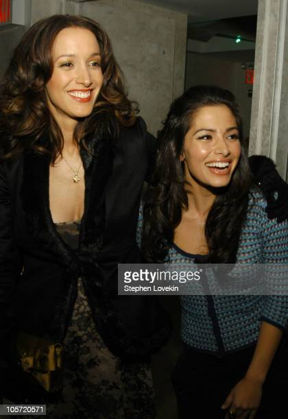 Jennifer Beals and Sarah Shahi during Showtime Presents the Second Season Premiere of The L Word After Party at Duvet in New York City New York...