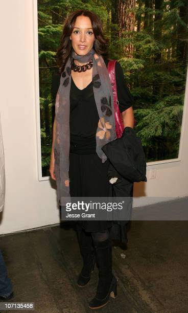 Jennifer Beals attends Alexandra Hedison's ITHAKA opening at Month Of Photography LA at Frank Pictures Gallery on April 4 2009 in Santa Monica...