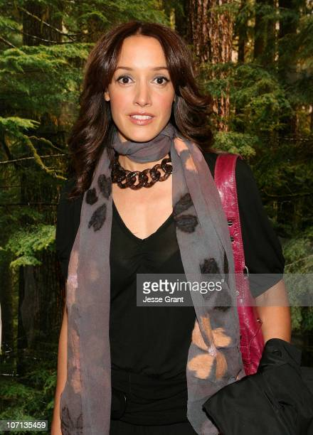 Jennifer Beals attends Alexandra Hedison's 'ITHAKA' opening at Month Of Photography LA at Frank Pictures Gallery on April 4 2009 in Santa Monica...