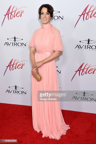 Jennifer Beals attends the Los Angeles Premiere Of Aviron Pictures' After at The Grove on April 8 2019 in Los Angeles California