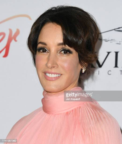 Jennifer Beals attends the Los Angeles premiere of Aviron Pictures' After at The Grove on April 08 2019 in Los Angeles California