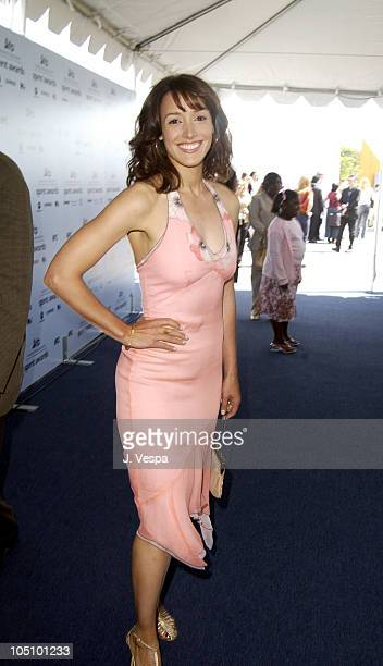 Jennifer Beals during The 18th Annual IFP Independent Spirit Awards Arrivals at Santa Monica Beach in Santa Monica California United States