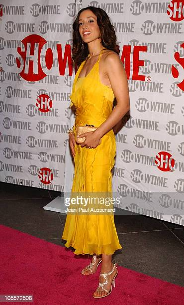 Jennifer Beals during 'The L Word' Showtime Network's Second Season Premiere at Directors Guild of America in Los Angeles California United States