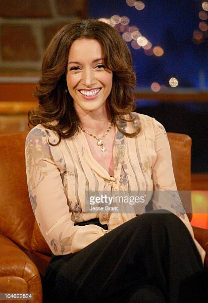 Jennifer Beals during 'The Late Late Show with Craig Ferguson' February 16 2005 at CBS Television City in Hollywood California United States