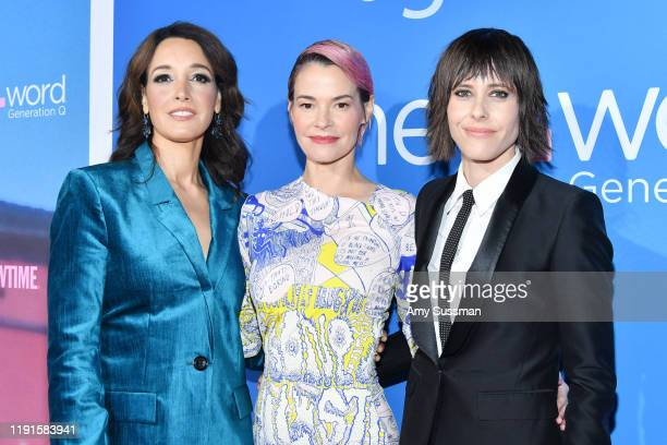 """Jennifer Beals, Leisha Hailey and Kate Moennig attend the premiere of Showtime's """"The L Word: Generation Q"""" at Regal LA Live on December 02, 2019 in..."""