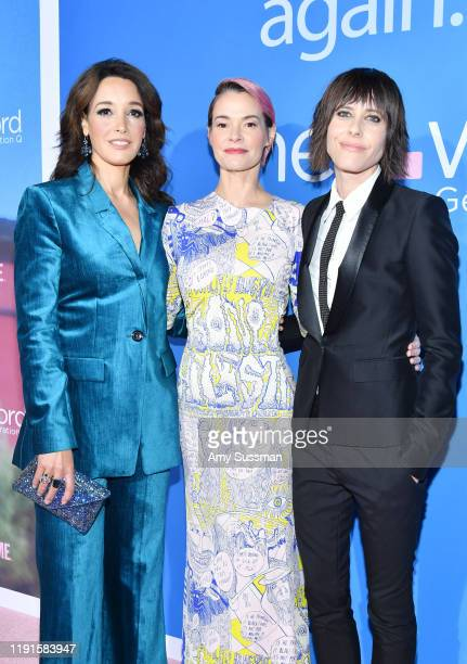 Jennifer Beals Leisha Hailey and Kate Moennig attend the premiere of Showtime's The L Word Generation Q at Regal LA Live on December 02 2019 in Los...