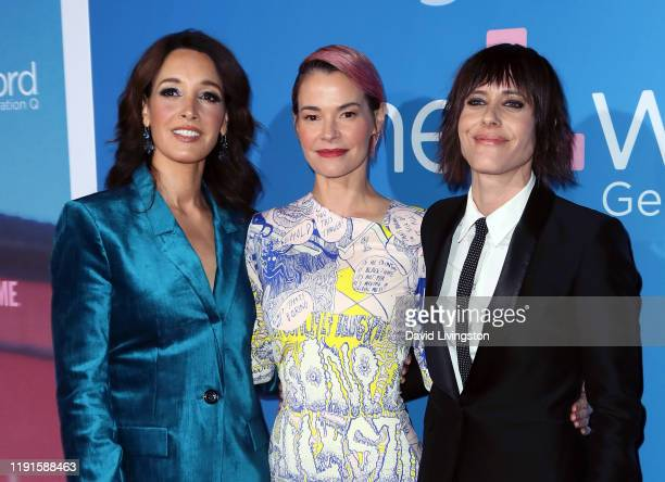 Jennifer Beals Leisha Hailey and Katherine Moennig attend the premiere of Showtime's The L Word Generation Q at Regal LA Live on December 02 2019 in...