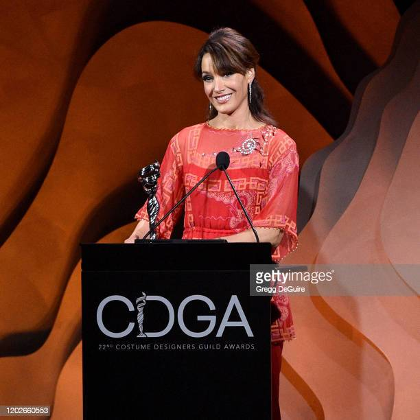 Jennifer Beals speaks onstage during the 22nd CDGA at The Beverly Hilton Hotel on January 28 2020 in Beverly Hills California