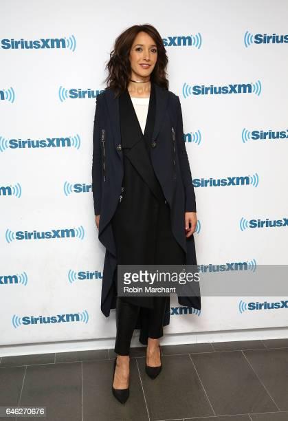 Jennifer Beals visits at SiriusXM Studios on February 28 2017 in New York City