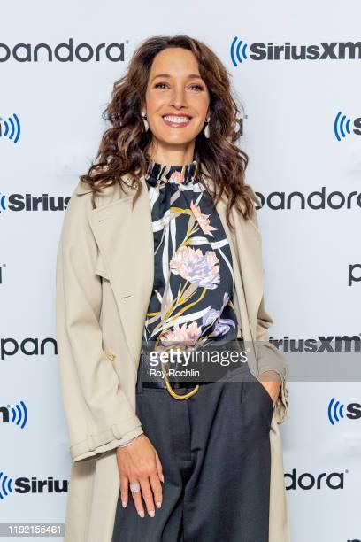 Jennifer Beals visits SiriusXM Studios on December 05 2019 in New York City