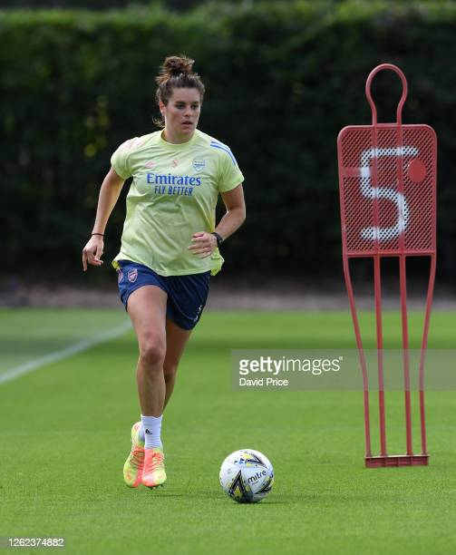 Jennifer Beattie of Arsenal during the Arsenal Women training session at Arsenal Academy on July 29 2020 in Walthamstow England