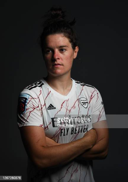 Jennifer Beattie of Arsenal during the Arsenal Women's Photocall at London Colney on August 12, 2020 in St Albans, England.