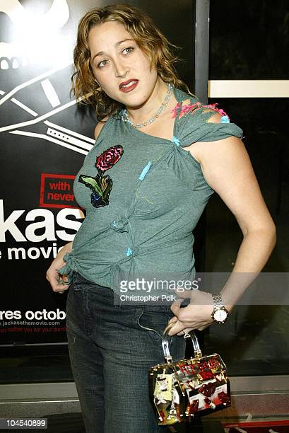 """Jennifer Blanc during Premiere of """"Jackass: The Movie"""" at Cinerama Dome in Beverly Hills, CA, United States."""