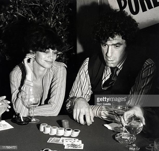 Jennifer Bogart and Elliot Gould during Sting Trophy Poker Championship at Chasen's Restaurant in Beverly Hills California United States