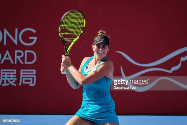Jennifer Brady of United States in action during the Prudential Hong Kong Tennis Open 2017 Quarterfinal match between Nicole Gibbs of United States...