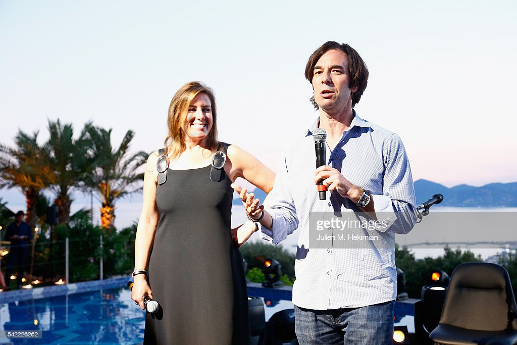 Jennifer Breithaupt, Citi Managing Director of Media, Advertising & Global Entertainment (L) and Russell Wallach, President, Media & Sponsorship, Live Nation attend the Live Nation And Citi Special Evening With Dave Grohl At Cannes Lions on June 22, 2016 in Cannes, France.