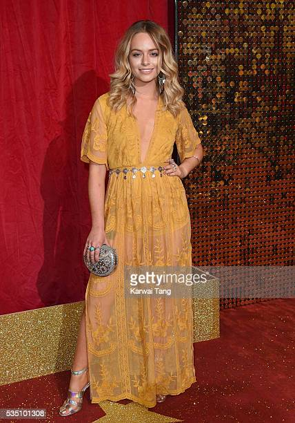 Jennifer Brooke arrives for the British Soap Awards 2016 at the Hackney Town Hall Assembly Rooms on May 28 2016 in London England