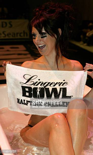Jennifer Cantrell during Lingerie Bowl HalfTime Challenge 2005 February 6 2005 at South Bay Studios Long Beach in Los Angeles California United States