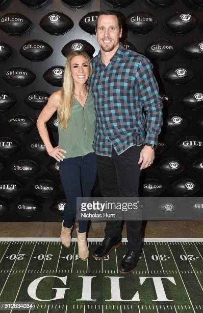 Jennifer Capista and Chad Greenway attend Giltcom's Big Game Celebration benefiting the Challenged Athletes Foundation at Saks OFF 5TH on January 31...