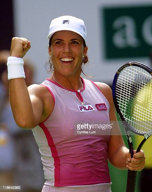 Jennifer Capriati celebrates after her semifinal win over France's Amelie Mauresmo at the Australian Open in Melbourne January 23 2002 Capriati the...