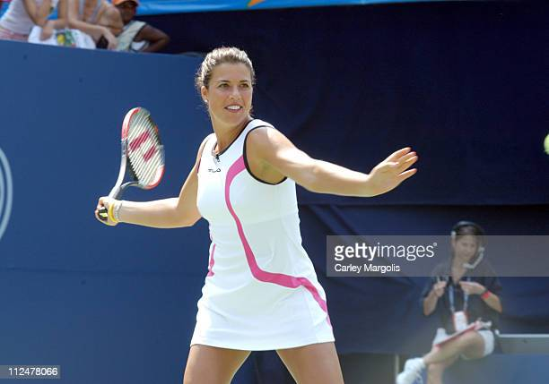 Jennifer Capriati during 2004 US Open Arthur Ashe Kids' Day at Arthur Ashe Tennis Stadium in New York City New York United States
