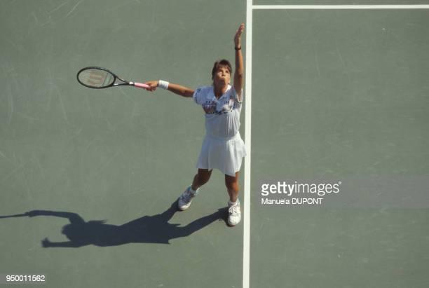 Jennifer Capriati lors de la finale de l'US Open à Flushing Meadows le 10 septembre 1989 à New York EtatsUnis