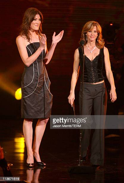 Jennifer Carpenter and Linda Blair during Spike TV's Scream Awards 2006 Show at Pantages Theater in Hollywood California United States