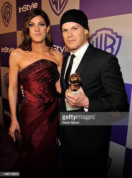 Jennifer Carpenter and Michael C Hall attend the InStyle and Warner Bros 67th Annual Golden Globes postparty held at the Oasis Courtyard at The...