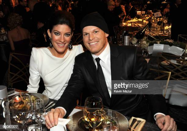 Jennifer Carpenter and Michael C Hall attends the TNT/TBS broadcast of the 16th Annual Screen Actors Guild Awards at the Shrine Auditorium on January...