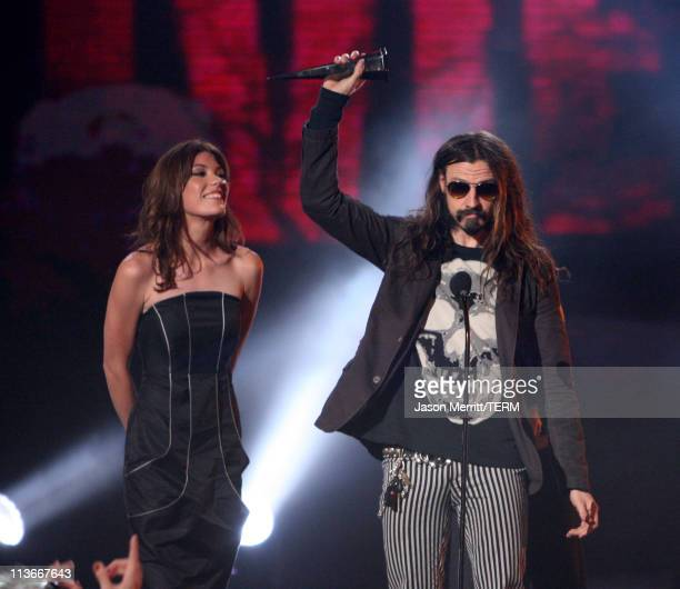 Jennifer Carpenter and Rob Zombie during Spike TV's Scream Awards 2006 Show at Pantages Theater in Hollywood California United States