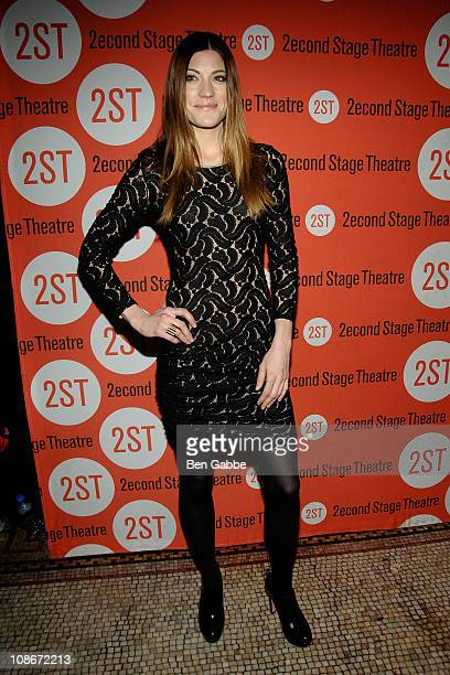 Jennifer Carpenter attends the Gruesome Playground Injuries OffBroadway opening night after party at the Trattoria Dopo Teatro on January 31 2011 in...