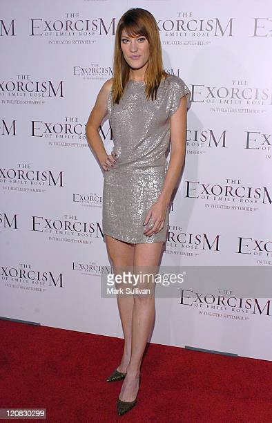 Jennifer Carpenter during The Exorcism of Emily Rose Los Angeles Premiere Arrivals in Los Angeles California United States