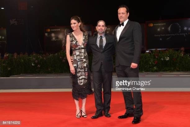 Jennifer Carpenter S Craig Zahler and Vince Vaughn walk the red carpet ahead of the 'Brawl In Cell Block 99' screening during the 74th Venice Film...