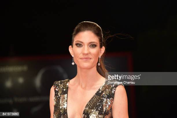 Jennifer Carpenter walks the red carpet ahead of the 'Brawl In Cell Block 99' screening during the 74th Venice Film Festival at Sala Grande on...