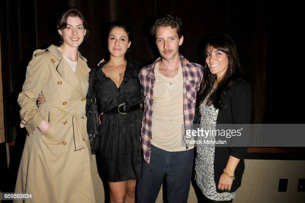 Jennifer Castore Abbey Drucker Matthu Placek and Cara Zolot attend DOSSIER Magazine Party at Tribeca Grand Hotel on September 11 2009 in New York City