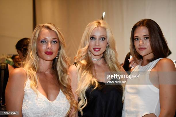 Jennifer Cirone Jamie Solveigh and model backtstage at Miami Swim Week powered by Art Hearts Fashion Swim/Resort 2018/19 at Faena Forum on July 14...