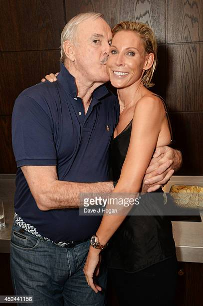 Jennifer Cleese and John Cleese attend the closing night after party for 'Monty Python Live ' at The O2 Arena on July 20 2014 in London England