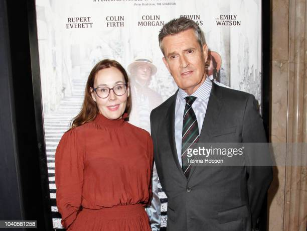 Jennifer Cochis and Rupert Everett attend 2018 LA Film Festival gala screening of 'The Happy Prince' at Wallis Annenberg Center for the Performing...