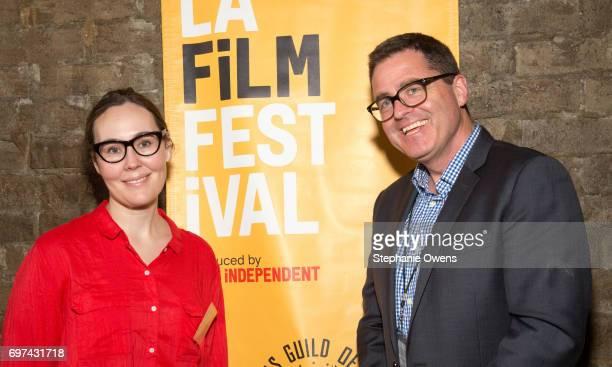 Jennifer Cochis LA Film Festival Director Josh Welsh President Film Independent attend the DGA Reception during 2017 Los Angeles Film Festival at...
