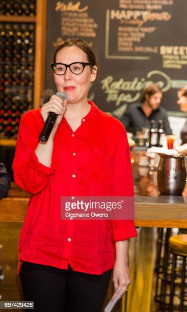 Jennifer Cochis LA Film Festival Director speaks at the DGA Reception during 2017 Los Angeles Film Festival at City Tavern on June 16 2017 in Culver...