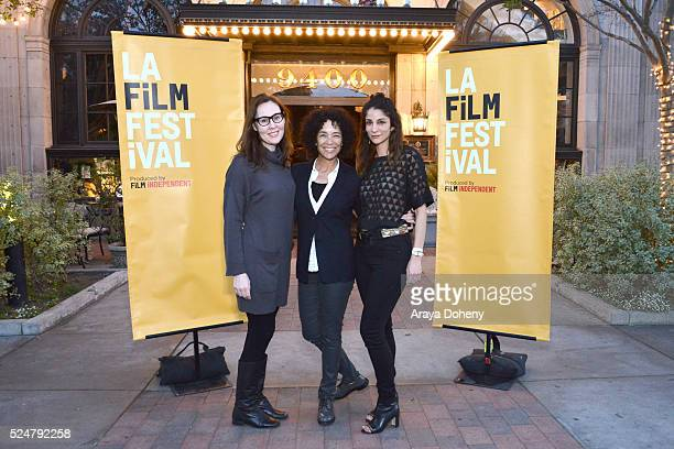 Jennifer Cochis, Stephanie Allain and Roya Rastegar attend the Film Independent Festival Kickoff Party on April 26, 2016 in Culver City, California.
