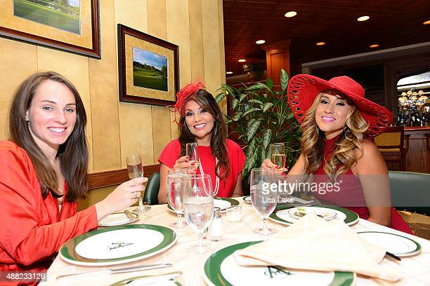 Jennifer Collins Yvette Sigala and Lorraine Aceves attend Ladies Champagne Caviar Luncheon hosted by Dorys Erving at Aronimink Golf Club on September...