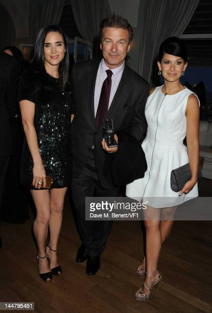 Jennifer Connelly Alec Baldwin and Hilaria Thomas and attend the Vanity Fair And Gucci Party during the 65th Annual Cannes Film Festival at Hotel Du...