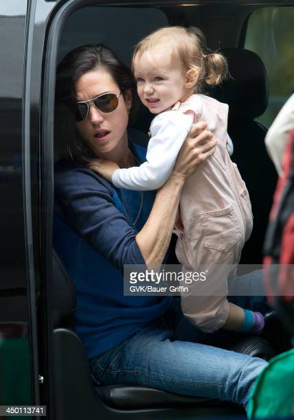 Jennifer Connelly and Agnes Lark Bettany are seen on June 02 2013 in Los Angeles CA