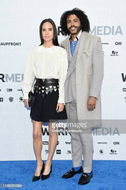 Jennifer Connelly and Daveed Diggs of TBS's Snowpiercer attend the WarnerMedia Upfront 2019 arrivals on the red carpet at The Theater at Madison...