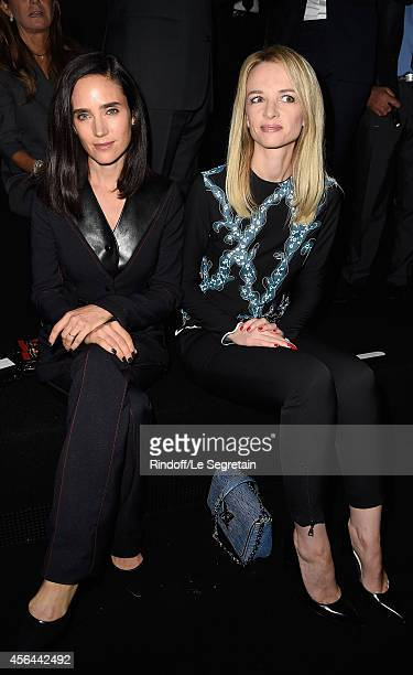 Jennifer Connelly and Delphine Arnault attend the Louis Vuitton show as part of the Paris Fashion Week Womenswear Spring/Summer 2015 on October 1...