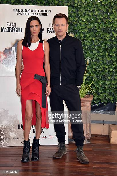 Jennifer Connelly and Ewan McGregor attend a photcall for 'American Pastoral' on October 3 2016 in Rome Italy Ewan McGregor
