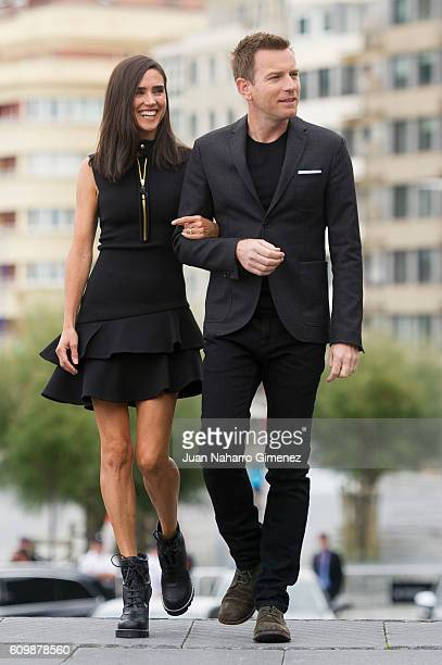 Jennifer Connelly and Ewan McGregor attend 'American Pastoral' photocall during 64th San sebastian Film Festival at Kursaal on September 23 2016 in...