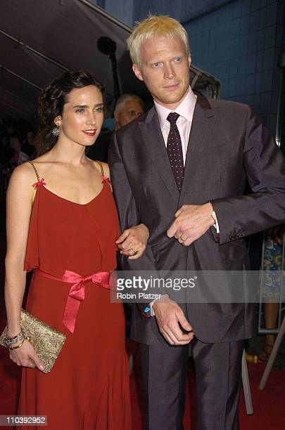 Jennifer Connelly and husband Paul Bettany during 'Dark Water' New York City Premiere Arrivals at The Clearview Chelsea West Cinema in New York City...